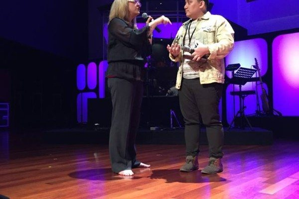 Rebecca doing Personal Ministry in Malaysia